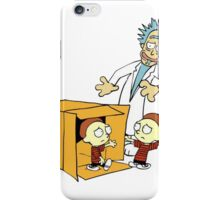 Rick and Morty Calvin and Hobbes mashup iPhone Case/Skin
