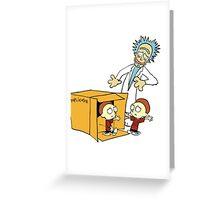 Rick and Morty Calvin and Hobbes mashup Greeting Card
