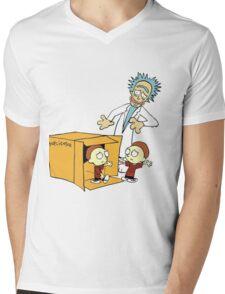 Rick and Morty Calvin and Hobbes mashup Mens V-Neck T-Shirt
