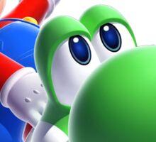 CHEAP Mario bros and yoshi hd 3d Sticker