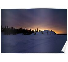 A Cloudy March Night Sky Over Vee Lake Poster