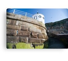 Whitby sea wall Canvas Print