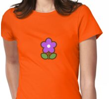 Flower Glow Blue - Day 6 (Friday) 6of7 designs Womens Fitted T-Shirt