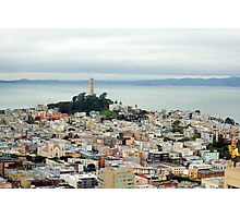 Coit Tower and bay Photographic Print