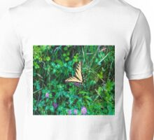 A Butterfly Using Its Wings Unisex T-Shirt
