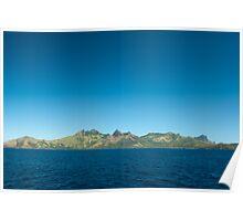 Topography of the Fijian islands Poster