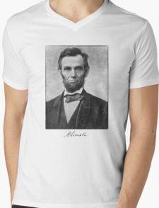 Abraham Lincoln Mens V-Neck T-Shirt
