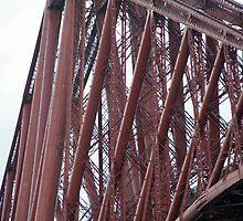 Forth Rail Bridge detail by photoeverywhere