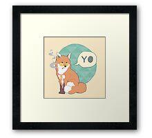 Gangster Fox Framed Print