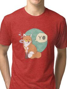 Gangster Fox Tri-blend T-Shirt