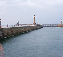 Sheltered water in Whitby harbour by photoeverywhere