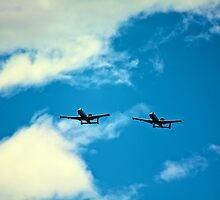 A-10 With Wingman by Jesse Diaz