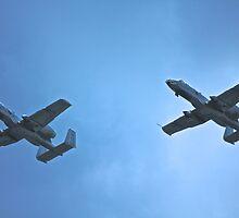 A-10 flight with wingman  by Jesse Diaz