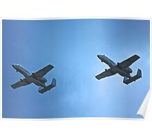 A-10 flight with wingman  Poster