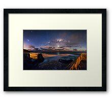 Muriwai Milky Way Panorama Framed Print