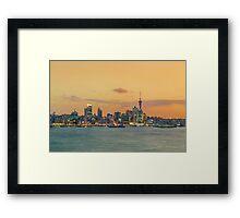 Auckland City Sunset Framed Print