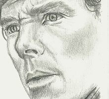 Benedict Cumberbatch BBC Sherlock Pencil Sketch Portrait by LouLouD123