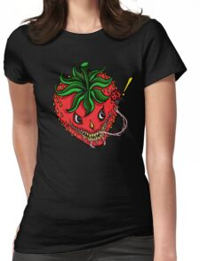 Sinister Strawberry Womens Fitted T-Shirt