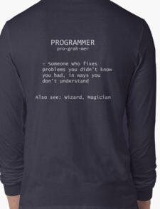 Programmer Definition Long Sleeve T-Shirt