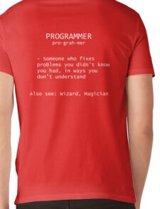 Programmer Definition Mens V-Neck T-Shirt