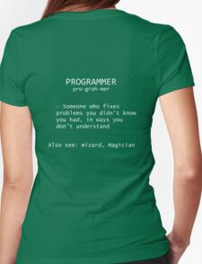 Programmer Definition Womens Fitted T-Shirt