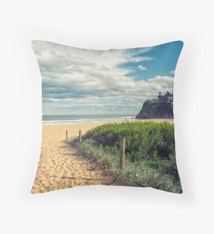 Stanwell Park Beach Throw Pillow