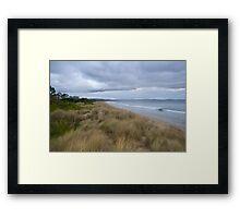 sand dunes 7 mile beach Framed Print