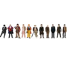 The Thirteen Doctors by 5thwheeldesign