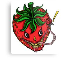 Sinister Strawberry Metal Print