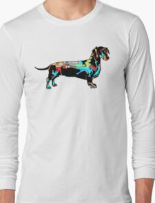 Graffiti covered Dachshund  T-Shirt
