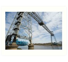 Gondola on the Transporter Bridge at Newport Art Print