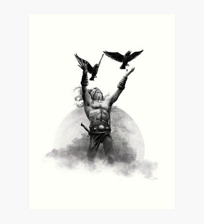 Odin & Ravens Art Print