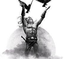 Odin & Ravens by simonbreeze