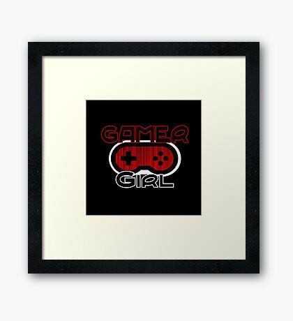 Red Gamer Girl Framed Print