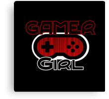Red Gamer Girl Canvas Print