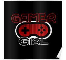 Red Gamer Girl Poster