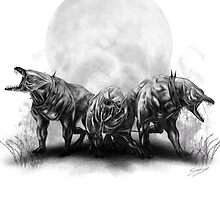 Welsh Death Hounds by simonbreeze