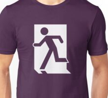 Emergency Exit Sign, with the Running Man Unisex T-Shirt