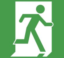 Emergency Exit Sign, with the Running Man One Piece - Short Sleeve