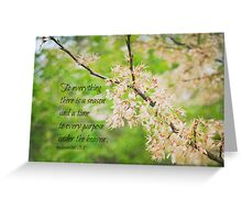 Season Ecclesiastes 3 Greeting Card