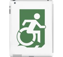 Emergency Exit Sign, with the Accessible Means of Egress Icon, part of the Accessible Exit Sign Project iPad Case/Skin