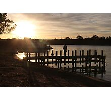 Sunset on the murray river Photographic Print
