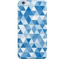 blue triangle pattern background iPhone Case/Skin