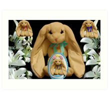 EASTER BUNNY FAMILY MY FAVORITE LITTLE EGG Art Print