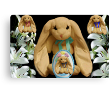 EASTER BUNNY FAMILY MY FAVORITE LITTLE EGG Canvas Print