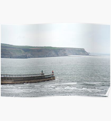 Whitby breakwaters and headland Poster