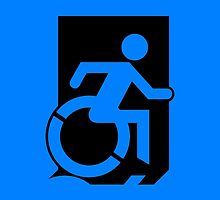 Emergency Exit Sign, with the Accessible Means of Egress Icon, part of the Accessible Exit Sign Project by LeeWilson
