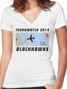 TeuvoWatch 2014 Women's Fitted V-Neck T-Shirt