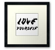 Love Yourself - Justin Bieber Framed Print