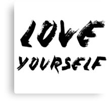 Love Yourself - Justin Bieber Canvas Print